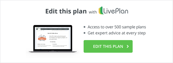 Edit this plan with LivePlan
