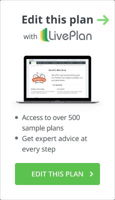 Edit this plan with LivePlan