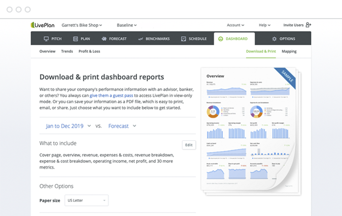 Gorgeous reports, perfect for presentations